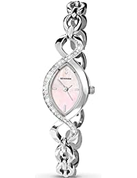 Sekonda Women's Quartz Watch with Mother of Pearl Dial Analogue Display and Silver Stainless Steel Bracelet 4684.27