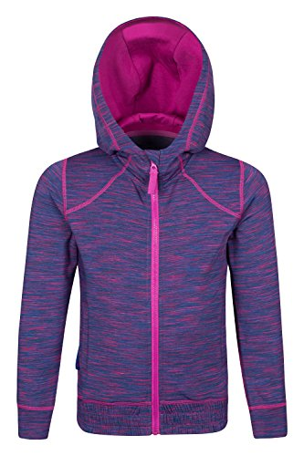 Mountain Warehouse Kayleigh Girls Stripe Hoodie Purple 9-10 years