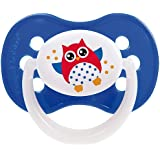 Canpol Babies Symmetric Silicone Soother (6-18 M) Assorted Design, Owl, Dark Blue_22/569