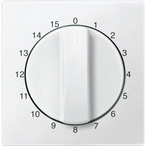 Merten 539019 Zentralplatte für Zeitschalter-Einsatz 15 min, polarweiß, System M (Abluft-jalousie)