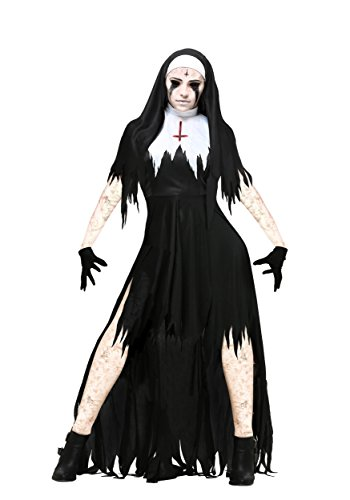 Women's Dreadful Nun Plus Size Fancy Dress Costume 3X
