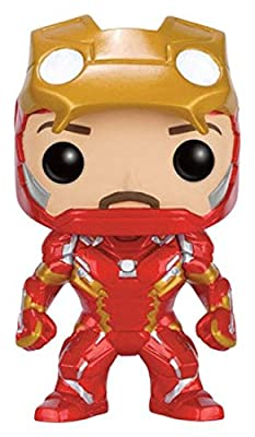 Figurine Pop ! Marvel Captain America : Civil War 136 - Bobble-Head Iron Man [Unmasked]