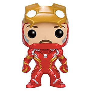 Funko POP fk7225 394 inch Marvel Capitn Amrica 3 Guerra Civil Iron Man desenmascarada vinilo figura de edicin limitada