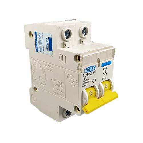 Breaker 2 P DC 600 V Leitungsschutzschalter MCB C Curve einpolig Gleichstromsicherung für PV, 2P 3A - Pv-breaker