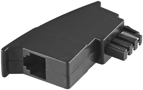 Wentronic TAE Adapter (Stecker F auf RJ11 (6P4C) Kupplung) schwarz (2 Stück)