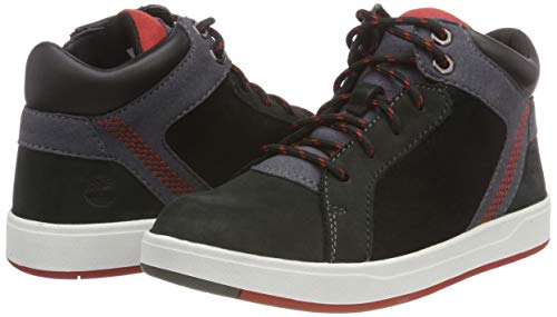 Timberland Unisex Kids  Davis Square Chukka Boots   Black Naturebuck 1   13  32 EU