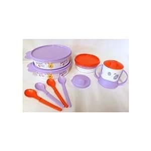 Tupperware Winnie the Pooh Feeding Set Bowls, Tumbler, Feeding Cup, Spoons NEW by Tupperware