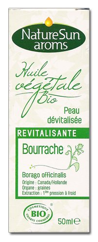 Naturesun aroms - Huile végétale bourrache bio - 50 ml huile végétale - Revitalisante, peau dévitali