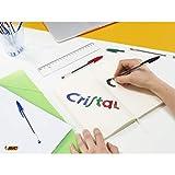 BIC Cristal Original Ballpoint Pens Medium Point (1.0 mm) - Black, Box of 50