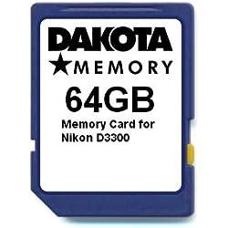 64GB Memory Card for Nikon D3300