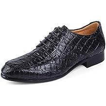 Hombre de Negocios Vestido de Cuero Formal Zapatos Puntiagudos Dedo del pie Oxfords