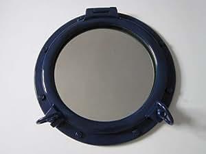 Bleu marine hublot miroir 50,8cm