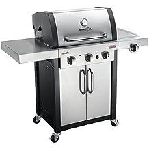 Char-Broil Professional Serie 3400S - Griglia Barbecue a Gas con 3 Fuochi con Tecnologia TRU-Infrared e Fuoco Laterale, Acciaio Inossidabile