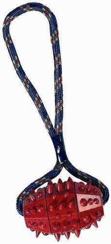 Hundespielzeug Igel-Rugbyball + Seil 8/30cm