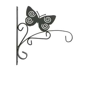Potence Murale Déco - Métal - Papillon