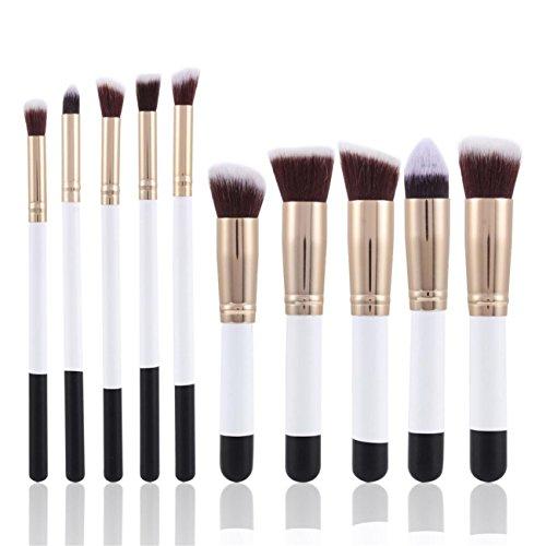 CYBERRY.M 10pcs Maquillage CosméTique Pinceau Fard à PaupièRes En Poudre (Or)