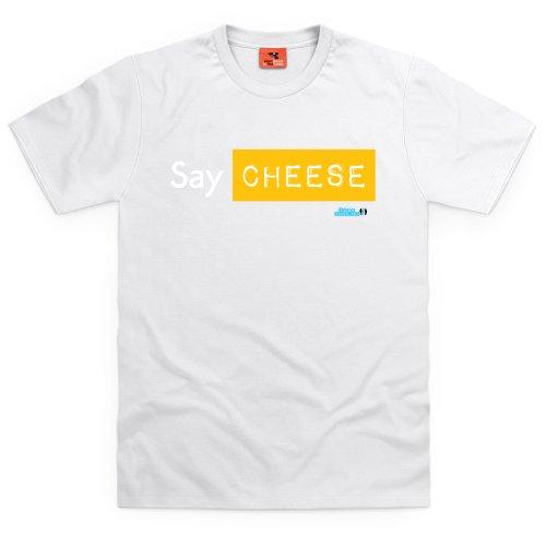 Tube Crush Say Cheese T-Shirt, Herren Wei