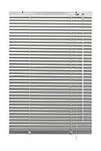 GARDINIA Veneziana in alluminio, Visibilità, Protezione dalla luce e ai raggi solari, Fissaggio al muro e al plafone, Kit di montaggio incluso, Veneziana in alluminio, Argento, 100 x 240 cm (LxA)