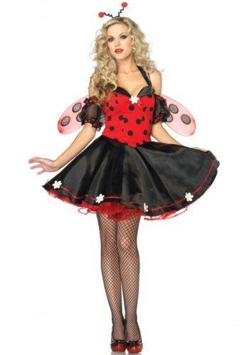 Für Kostüm Marienkäfer Erwachsene (Leg Avenue Daisy Lady Bug Kostüm S/M, 1)