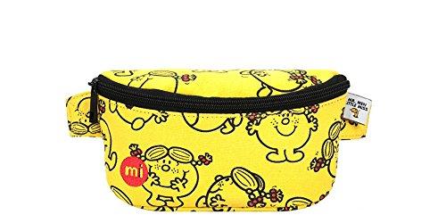 Mi-Pac Mi-Pac x Mr Men and Little Miss Slim Bum Bag - Sunshine Yellow Riñonera de Marcha, 22 cm, Amarillo (Yellow)