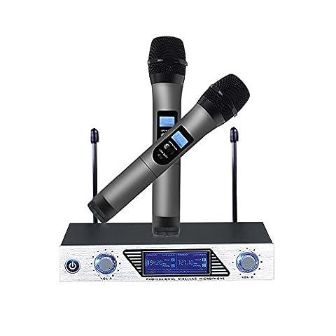 Micro Sans Fil Microphone Professionnel Sans Fil Microphone Dynamiques VHF