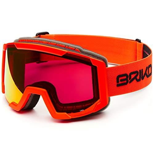 Briko Lava Skibrille, Unisex, Erwachsene Einheitsgröße Orange (matt orange FL)