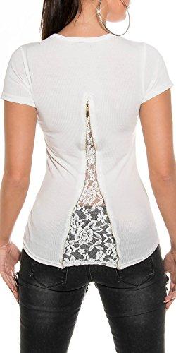 Pullover mit Strass Weiß