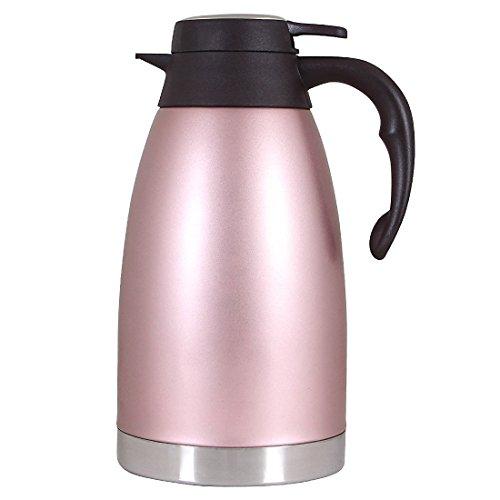 Kaffeekannen Edelstah Thermoskanne doppelwandig vakuumisoliert Tee Isolierkanne Karaffe -2litre