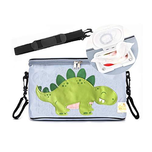 Mr.LQ Kinderwagen-Organizer-Tasche Buggy-Kinderwagen-Tasche mit 2 Kinderwagen-Hakenhaltern und Taschentasche für Mom Travel