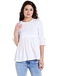 The Dry State Cotton Causal Quarter Sleeves Top