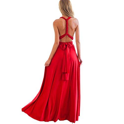 IBTOM CASTLE Damen One-Shoulder Kleid Gr. L, rot