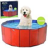 Dog Pool Grande Box da Bagno per Animali Domestici, in PVC, Pieghevole, Lavabile, Portatile, da Viaggio, per Cuccioli e Cani