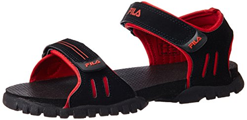 Fila Men's Climb Black and Red Rubber Sandals and Floaters - 6 UK