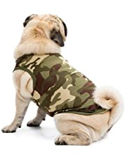 Sage Square Dog Winter Ultra Warm Camouflage Army Coat Thicker Fleece Dog Hoodie Vest for Cold Weather (Size: Medium) (16 Inches)