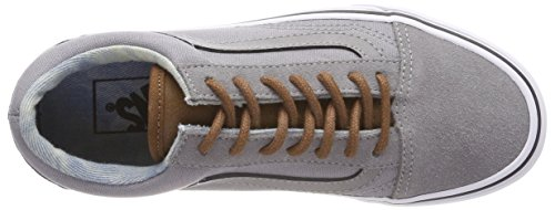 Vans Old Skool, Scarpe Running Unisex-Adulto Grigio (C/yellow)