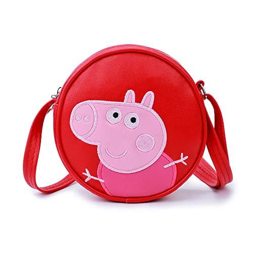 Peppa Pig Schultasche für Kinder Kindergarten-Schultasche Rucksack Mode Ultraleicht Freizeit Junge Mädchen Rucksack für Outdoor Sports Camping Picknick Rucksäcke 1-6 Grade (2)