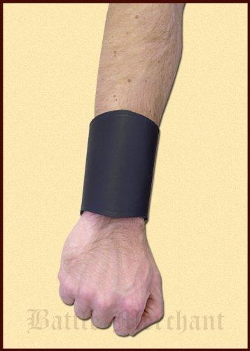 Bracciale in pelle centrale - Tulipano in nero in pelle