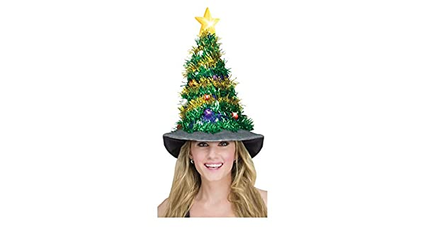 fec7a628b694a Light Up Christmas Tree Hat  Amazon.co.uk  Toys   Games