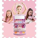 TriLance Maquillage Fille Enfants Jouets Kits de Coiffure Simulation Princesse Cosplay Outil Playset Cosmétiques, Ensemble de Maquillage, Cadeau d'Anniversaire pour Enfant Fille (comme montré)...