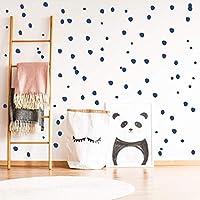 Hand drawn polka dot wall stickers, circle decals, nursery decor - 216 pcs