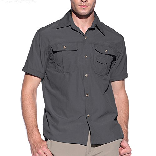 417T4MKxQyL. SS500  - MAGCOMSEN Quick Dry Breathable Convertible Men's Long Sleeve Shirt for Hiking Work Military