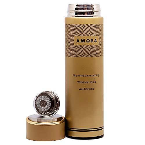 Amora Design Thermoskanne aus Edelstahl | 500ml Thermo-Becher mit...