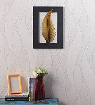 Merci de donner un cadeau pour vos amoureux,Tenture en bois, conception de feuille d'or Hanging couleur, Mur Antique Hanger 12
