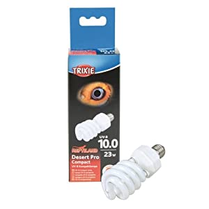 Trixie Desert Pro Compact 10.0 UV B Compact Lamp, 23 Watt, 60 × 152 mm