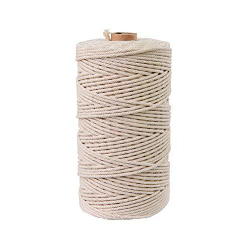 Supvox 5 mm * 110 yardas cuerda macrame algodón natural