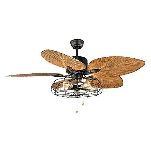 *Araña de luces Ventilador industrial Semi Flush Luz de techo - LITFAD...