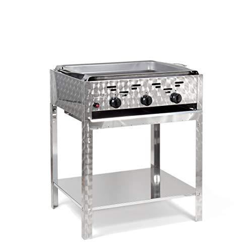 LAG Gasbräter 11 kW Standmodell mit Stahlpfanne und 3-flammig Gasgrill Grill Gastrobräter Profigrill Verein -