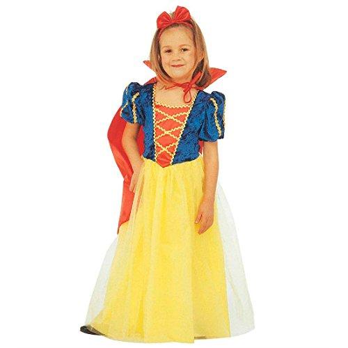 NET TOYS Süßes Schneewittchen Kostüm Prinzessin Kinderkostüm 116 cm Märchenprinzessin Kleid mit Mantel und Kopfschmuck Disney Märchenkostüm Snow White Mädchenkostüm Märchen Faschingskostüm ()