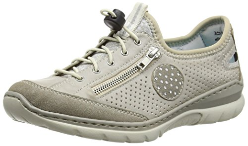 Rieker L3266 Women Low-top Damen Sneakers Grau (vapor/ice/silverflower/beige / 40)