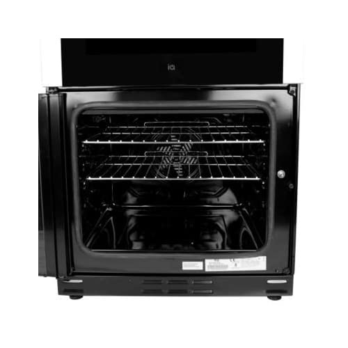 417T8ccaMsL. SS500  - iQ 60cm Double Oven Dual Fuel Cooker - Stainless Steel